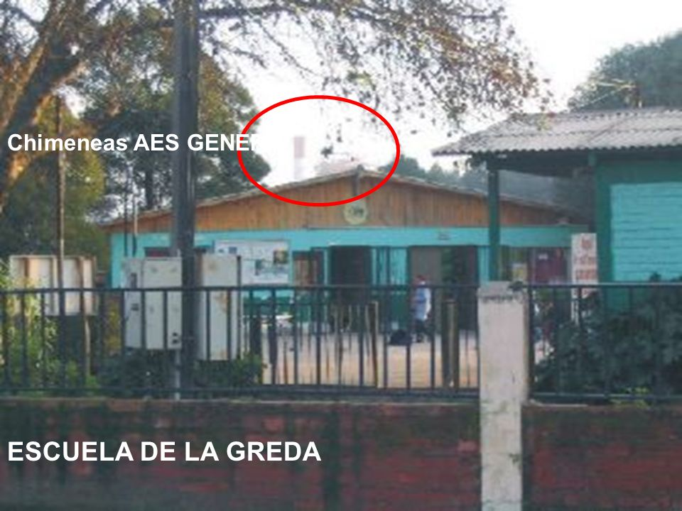 ESCUELA DE LA GREDA Chimeneas AES GENER