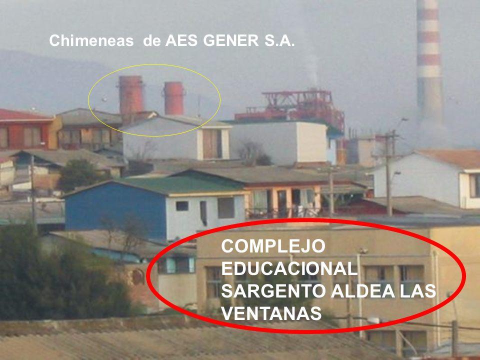 COMPLEJO EDUCACIONAL SARGENTO ALDEA LAS VENTANAS Chimeneas de AES GENER S.A.