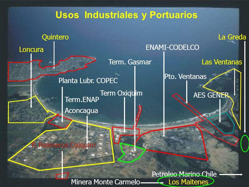 4.- Contaminación Marina El Programa para el ambiente del Servicio de Salud Viña del Mar Quillota, detectó (1999) metales pesados por sobre la norma en moluscos del Área de Manejo y Cultivo del Sindicato de Pescadores de Ventanas.