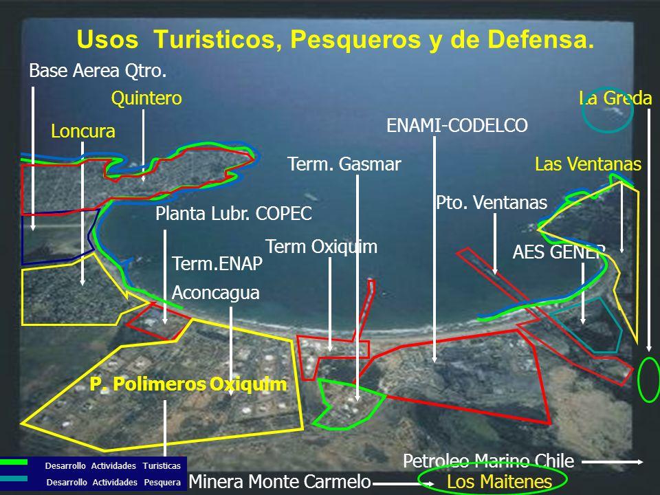 La Empresa Norte Americana The Diablo Conyon units, operada por Pacific Gas & Electric, toma y descarga más de 2,5 billones de galones de agua/día, incrustando vida marina y autóctona (salveje), lo cual ha ocasionado un desastroso impacto sobre el medio ambiente marino.
