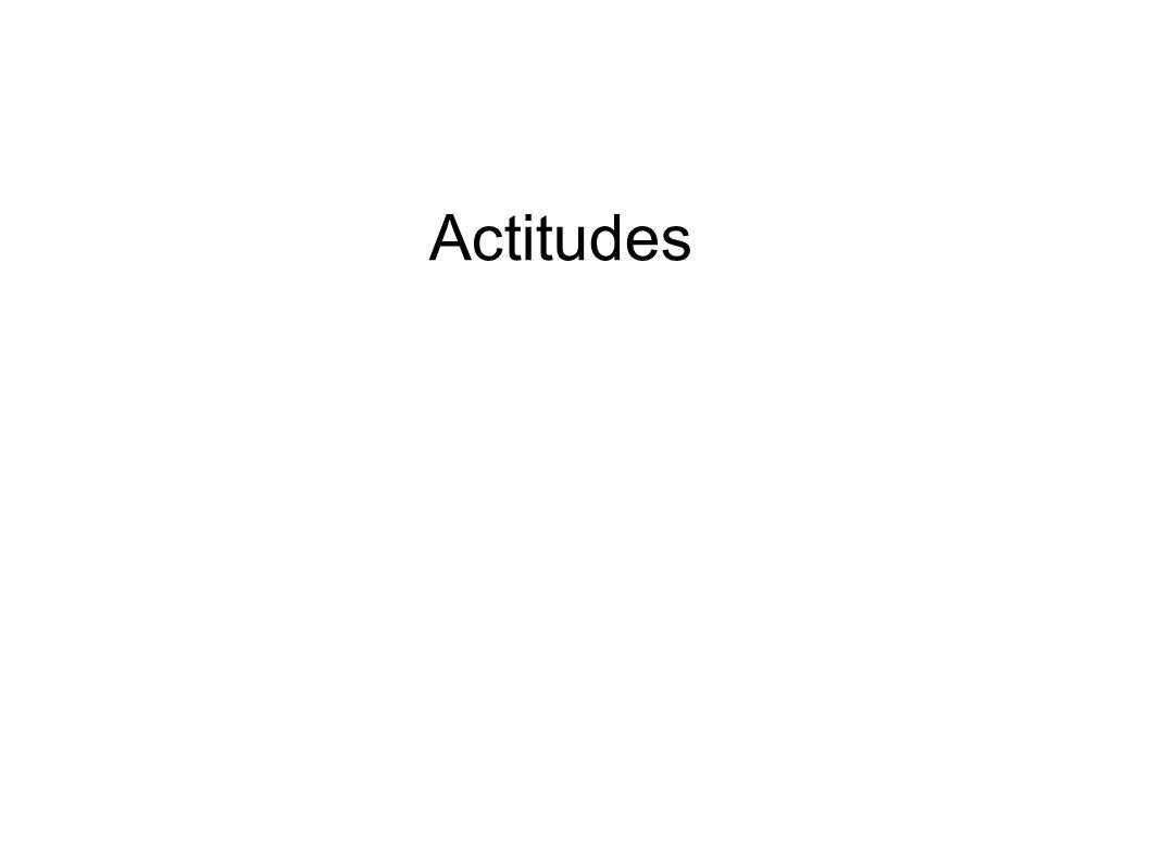 Funciones de las actitudes Función evaluativa: poseer una actitud hacia un objeto es más funcional que no poseer ninguna.