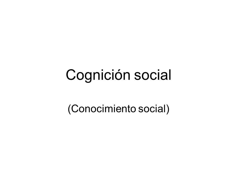 Cognición social (Conocimiento social)