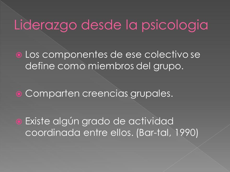 Los componentes de ese colectivo se define como miembros del grupo.