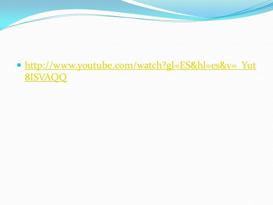 http://www.youtube.com/watch?gl=ES&hl=es&v=_Yut 8ISVAQQ http://www.youtube.com/watch?gl=ES&hl=es&v=_Yut 8ISVAQQ