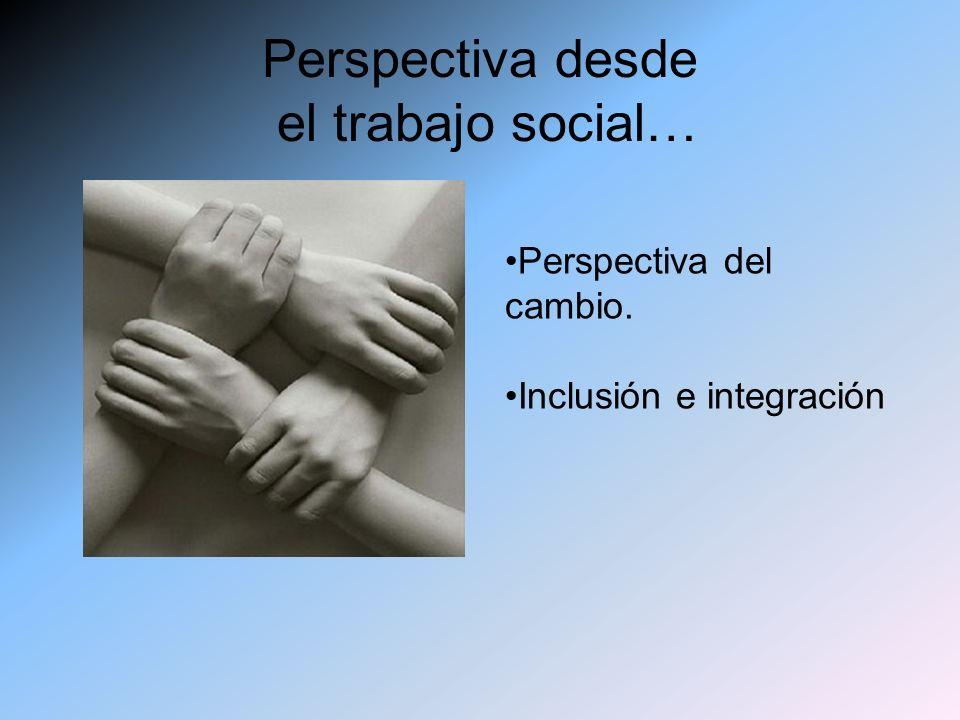 Perspectiva desde el trabajo social… Perspectiva del cambio. Inclusión e integración