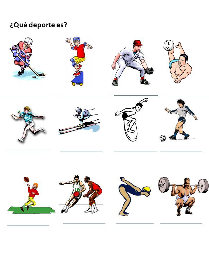 ¿Qué deporte es?