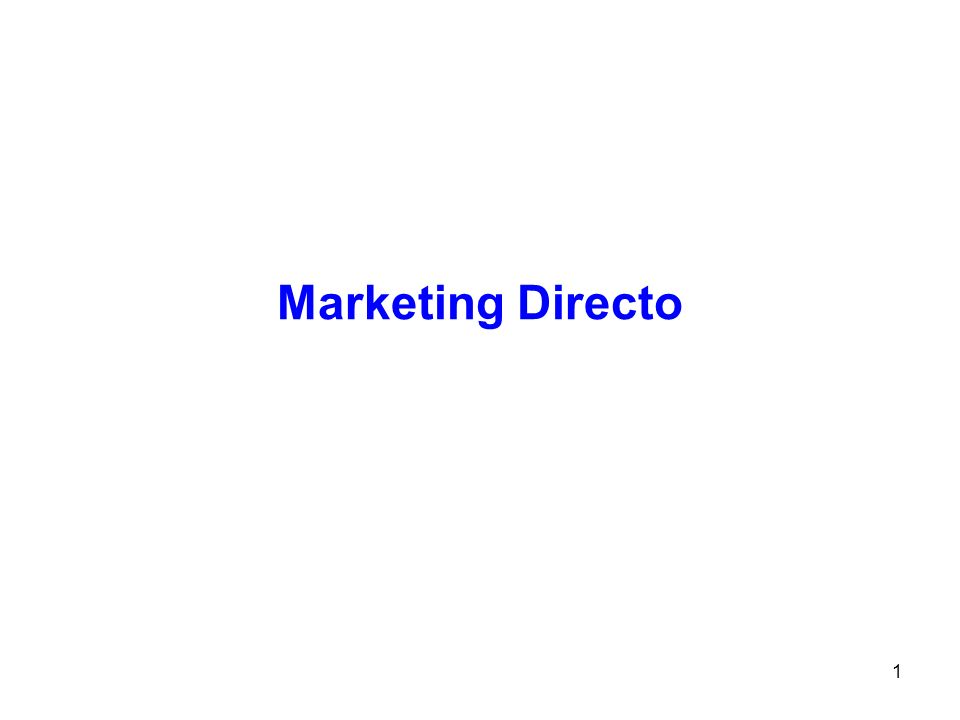 1 Marketing Directo Tema 6