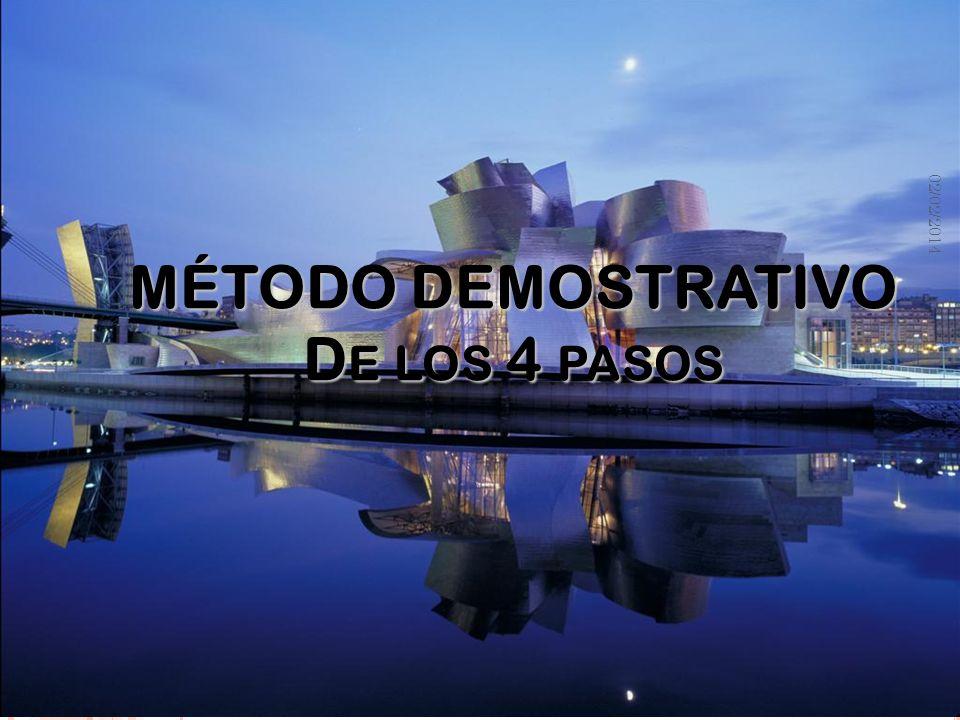 Metodología de la Formación Profesional MÉTODO DEMOSTRATIVO D E LOS 4 PASOS 02/02/2014