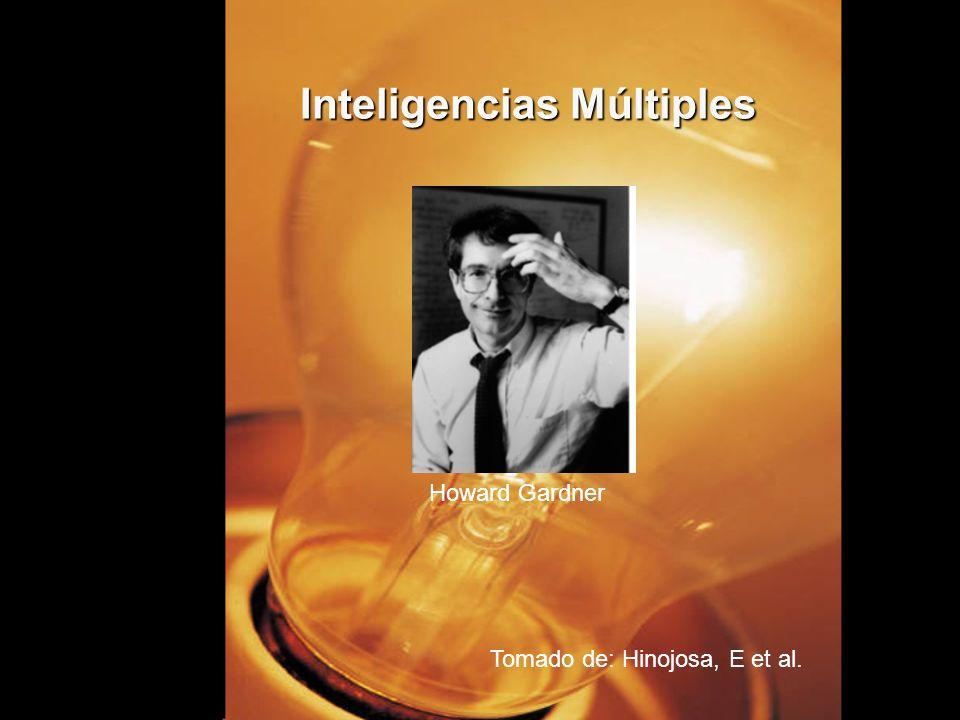 Inteligencias Múltiples Tomado de: Hinojosa, E et al. Howard Gardner
