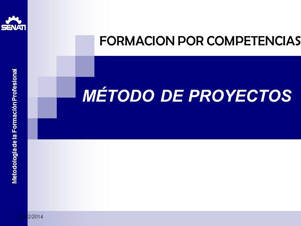 Metodología de la Formación Profesional MÉTODO DE PROYECTOS FORMACION POR COMPETENCIAS 02/02/2014
