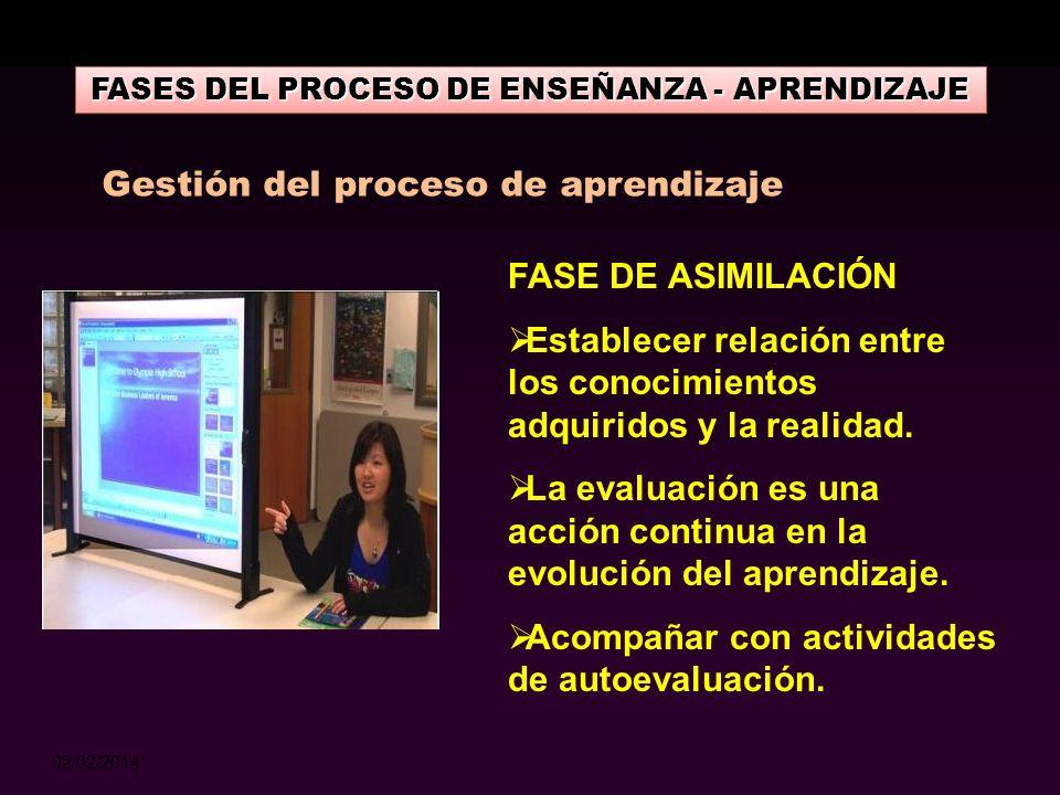 02/02/2014 FASES DEL PROCESO DE ENSEÑANZA - APRENDIZAJE FASE INFORMATIVA Información de contenidos. Se seleccionan en función a los objetivos. Enfocar