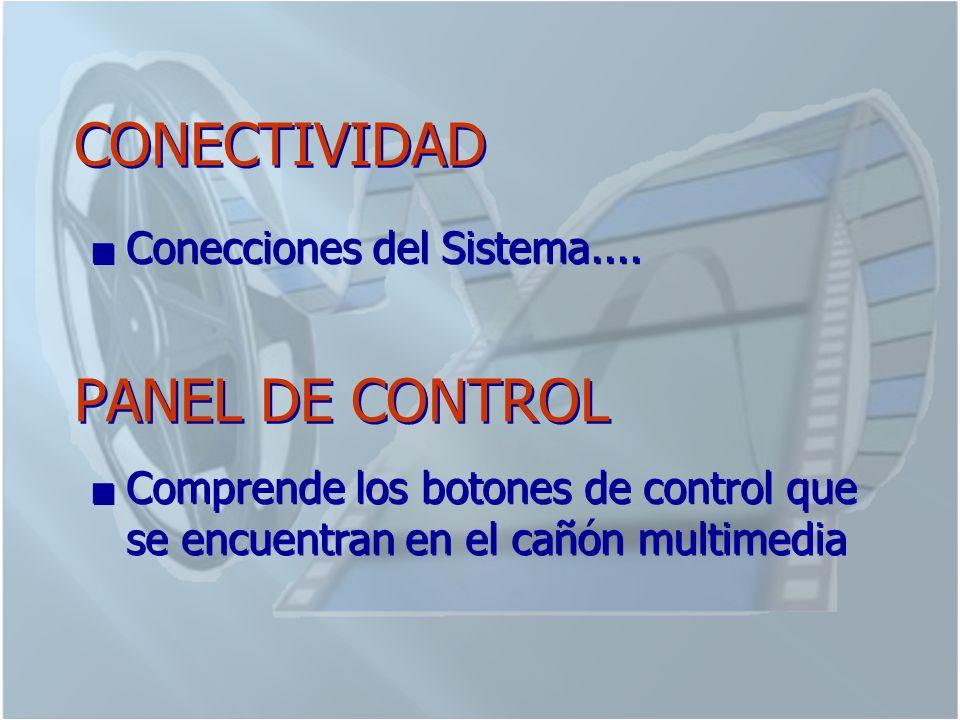 CONECTIVIDAD Conecciones del Sistema....