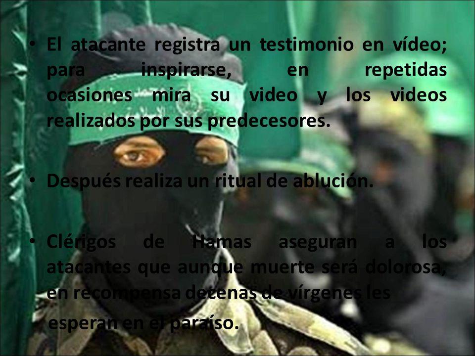 El atacante registra un testimonio en vídeo; para inspirarse, en repetidas ocasiones mira su video y los videos realizados por sus predecesores. Despu