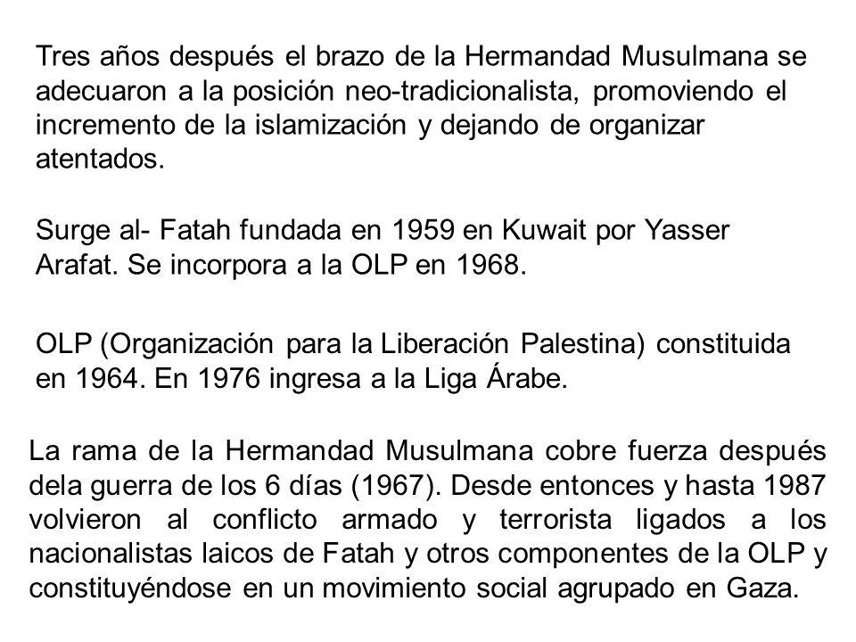 Tres años después el brazo de la Hermandad Musulmana se adecuaron a la posición neo-tradicionalista, promoviendo el incremento de la islamización y de