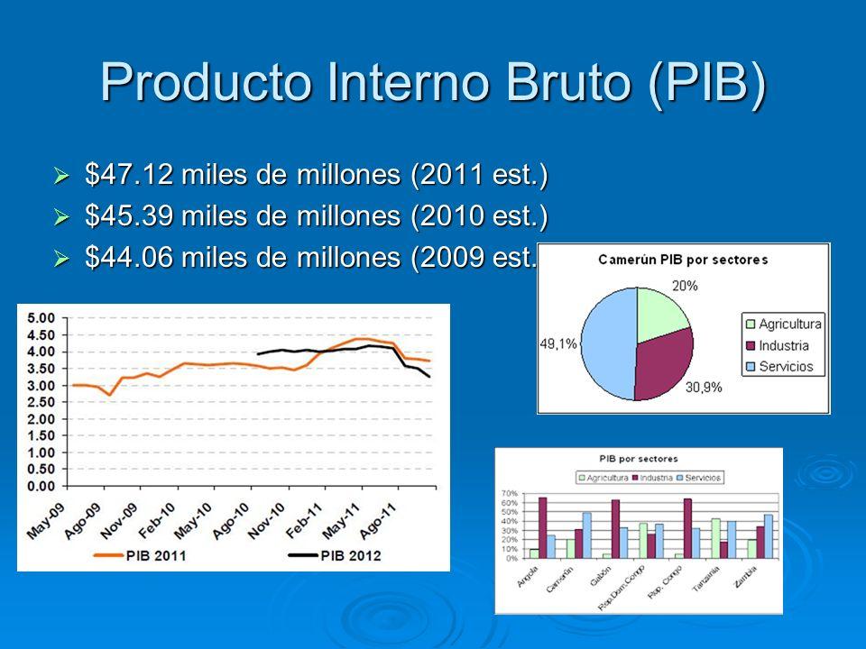 Producto Interno Bruto (PIB) $47.12 miles de millones (2011 est.) $47.12 miles de millones (2011 est.) $45.39 miles de millones (2010 est.) $45.39 mil