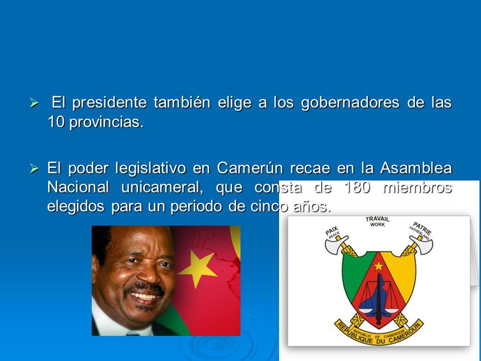 El presidente también elige a los gobernadores de las 10 provincias. El presidente también elige a los gobernadores de las 10 provincias. El poder leg