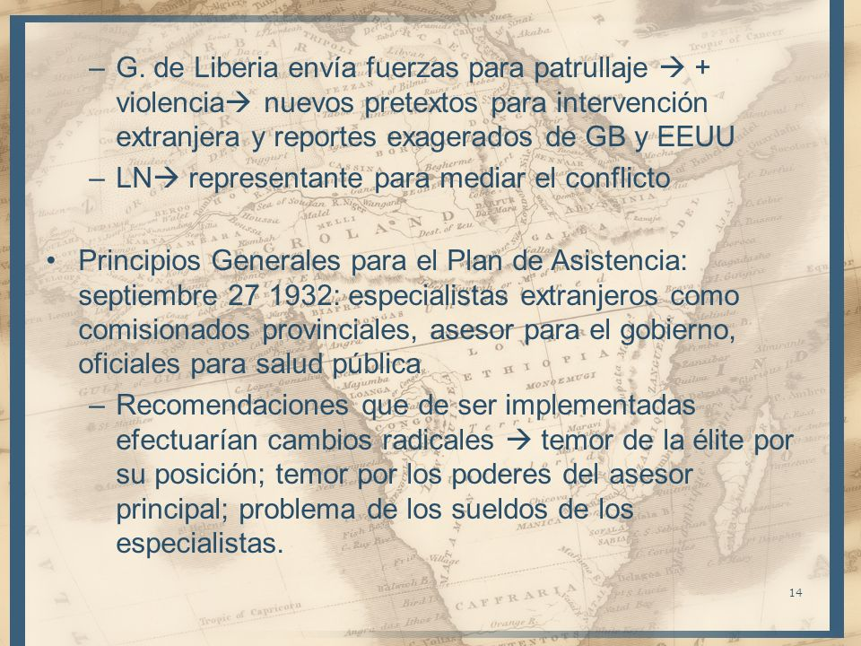 –G. de Liberia envía fuerzas para patrullaje + violencia nuevos pretextos para intervención extranjera y reportes exagerados de GB y EEUU –LN represen