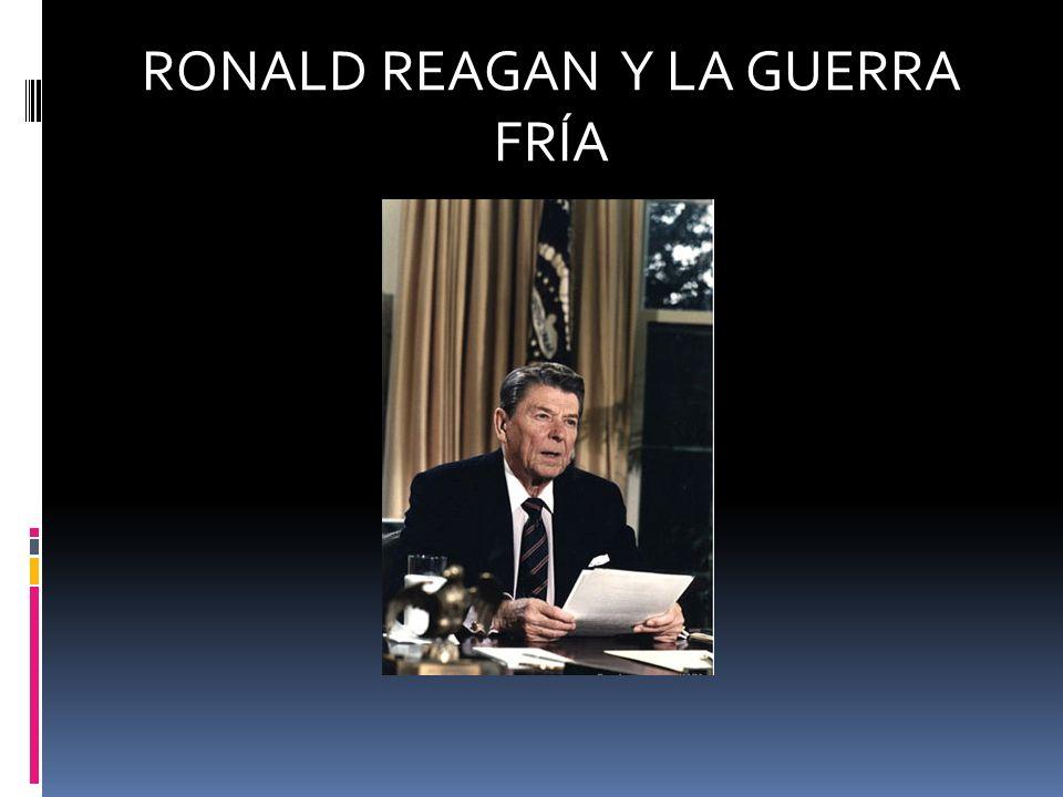 Las políticas económicas que Reagan se inició en 1981 son conocidos como Reaganomics.