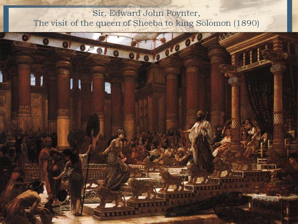 Sir. Edward John Poynter, The visit of the queen of Sheeba to king Solomon (1890) 3
