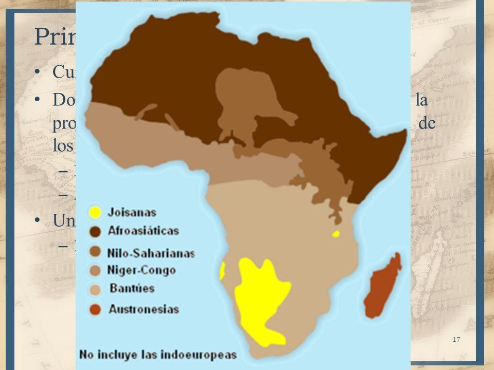 17 Primeros pobladores Cuna de la humanidad Dos hechos caracterizan la prehistoria, marcan la protohistoria de África y determinan la historia de los