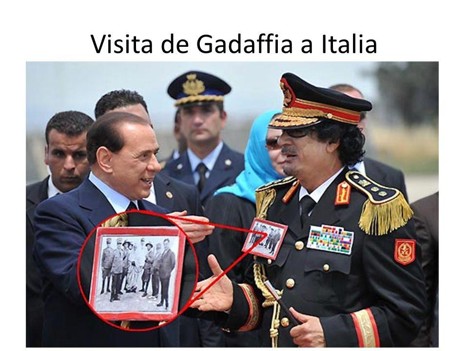 Visita de Gadaffia a Italia