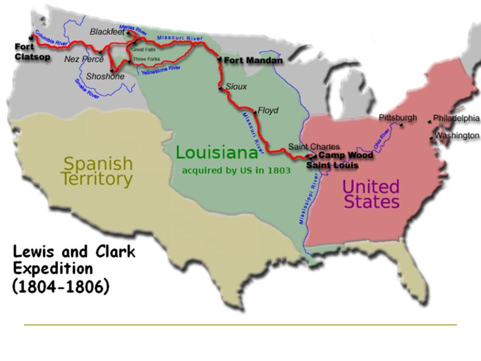 Meriwether Lewis, William Clark y Sacagawea (T. shoshone)