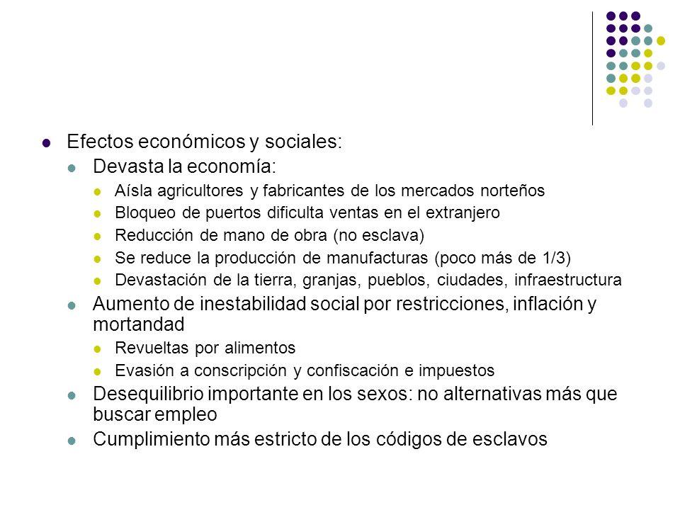 Efectos económicos y sociales: Devasta la economía: Aísla agricultores y fabricantes de los mercados norteños Bloqueo de puertos dificulta ventas en e