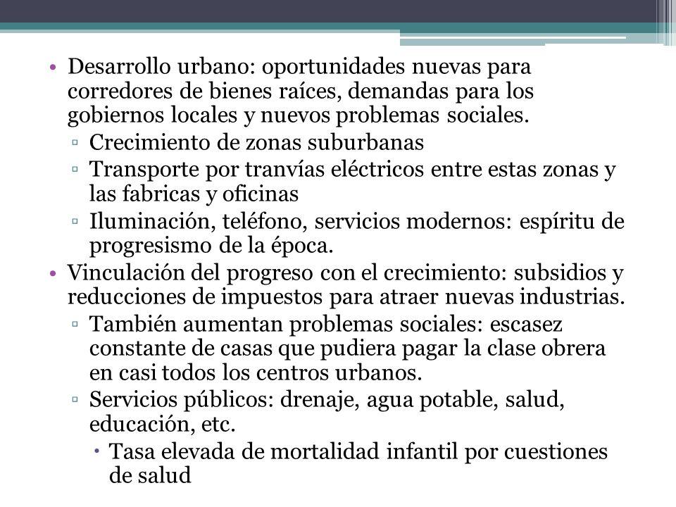 Desarrollo urbano: oportunidades nuevas para corredores de bienes raíces, demandas para los gobiernos locales y nuevos problemas sociales. Crecimiento
