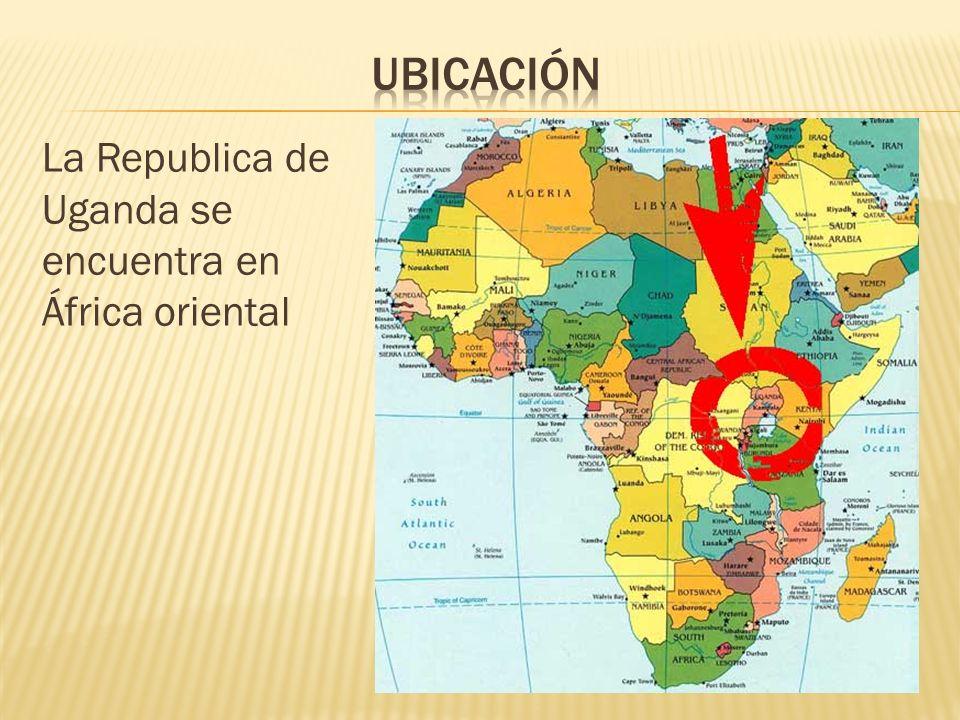 La Republica de Uganda se encuentra en África oriental