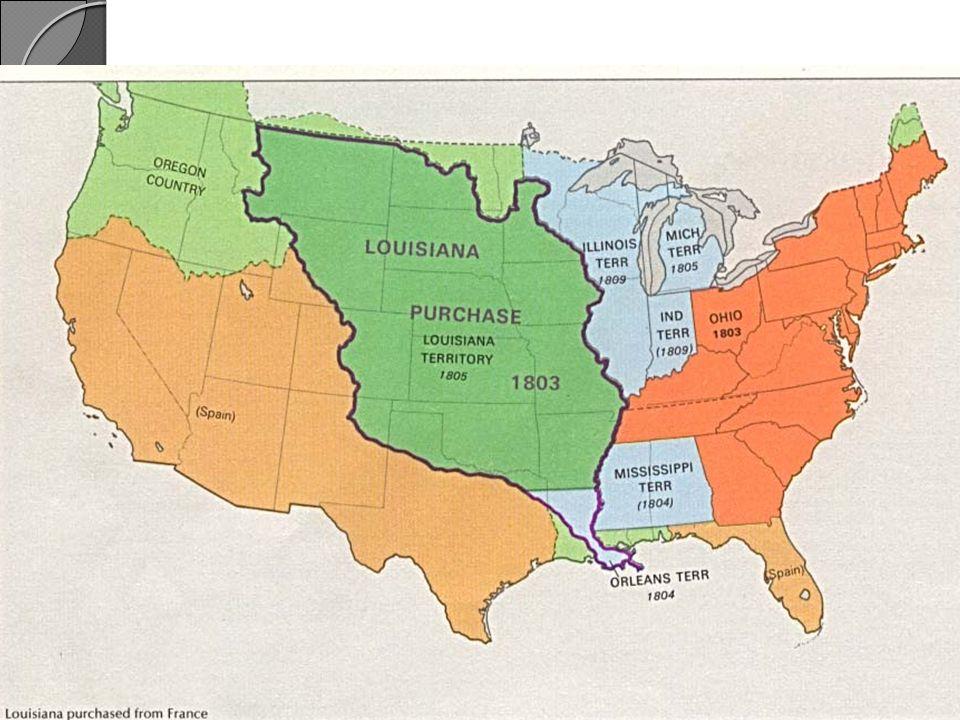 Desde antes de la compra se pensaba en explorar el resto del territorio hasta llegar al pacífico: datos geográficos, prospectos de comercio con los indios.