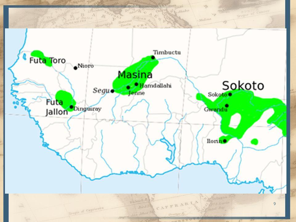Sofala, Manisa (Mombasa), Zeila (junto a Djibuti), Maqdichu (Mogadisho) – Mercaderes árabes se asientan y fundan almacenes comerciales – Migraciones árabes (persas y asiáticas) por conflictos en la península 695: facción vencida en Omán establece sultanato de Zanzíbar 740: Mogadisho fundada por Emosaids (bisnieto de Ali) 834: Jatts expulsados del Delta del Eúfrates se dedican a la piratería 975: persas fundan la factoría de Kilwapara S.XII controlan el comercio de la costa Comercio con la India, Malasia y China – 1415: embajadores africanos llegan a Pekín – Después 1500: política China cambia hacia el interior y para 1525 se terminan las relaciones 20