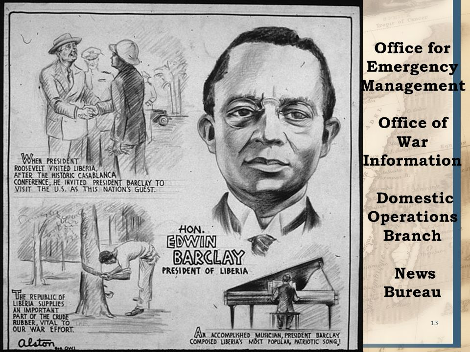 13 Office for Emergency Management Office of War Information Domestic Operations Branch News Bureau