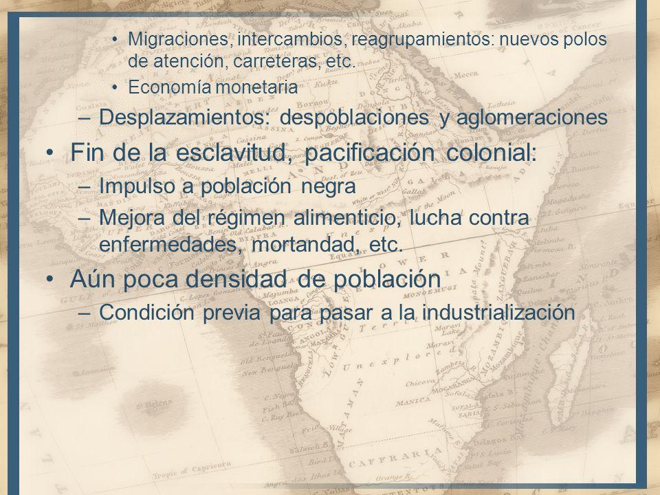 Migraciones, intercambios, reagrupamientos: nuevos polos de atención, carreteras, etc. Economía monetaria –Desplazamientos: despoblaciones y aglomerac
