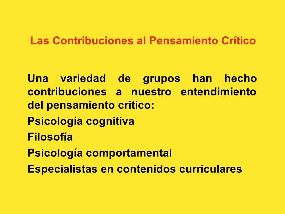 Las Definiciones del Pensamiento Crítico... el proceso intelectualmente disciplinado de activa y hábilmente: conceptualizar, aplicar, analizar, sintet