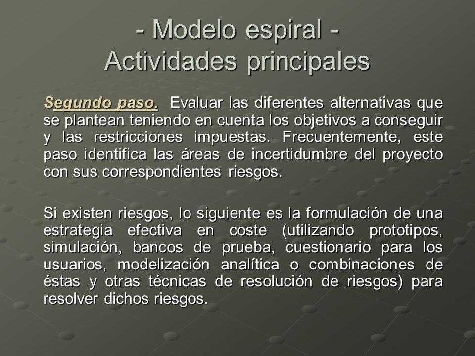 Segundo paso. Evaluar las diferentes alternativas que se plantean teniendo en cuenta los objetivos a conseguir y las restricciones impuestas. Frecuent