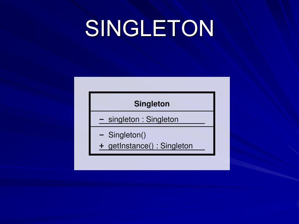El patrón de diseño Singleton (instancia única) está diseñado para restringir la creación de objetos pertenecientes a una clase o el valor de un tipo a un único objeto.