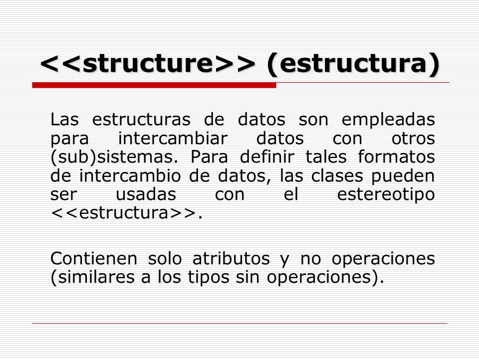 > (estructura) > (estructura) Las estructuras de datos son empleadas para intercambiar datos con otros (sub)sistemas.