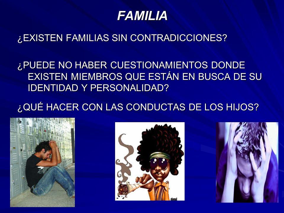 FAMILIA ¿EXISTEN FAMILIAS SIN CONTRADICCIONES.