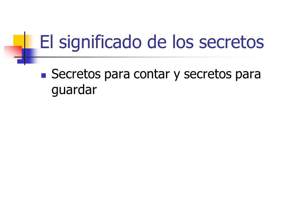 El significado de los secretos Secretos para contar y secretos para guardar