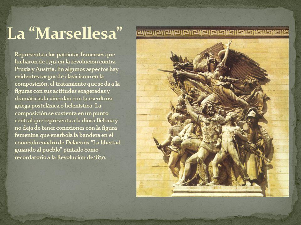 Representa a los patriotas franceses que lucharon de 1792 en la revolución contra Prusia y Austria. En algunos aspectos hay evidentes rasgos de clasic