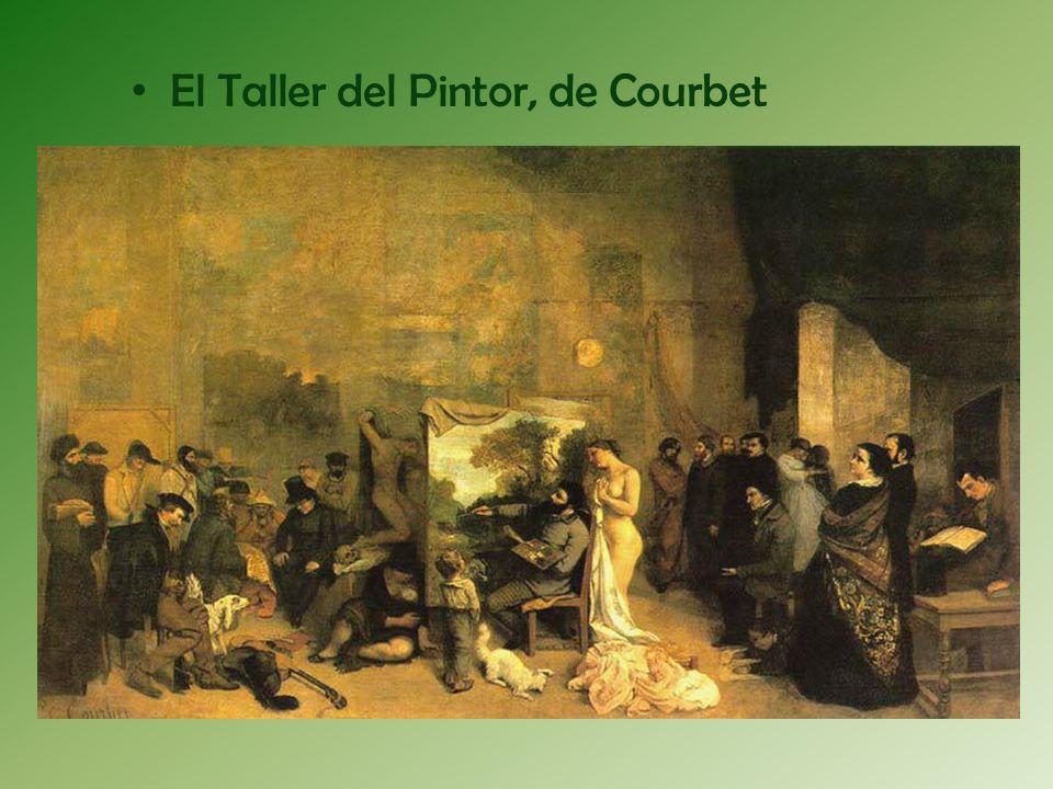 Sobre la obra: La escena tiene lugar en el taller de Courbet en Par í s.