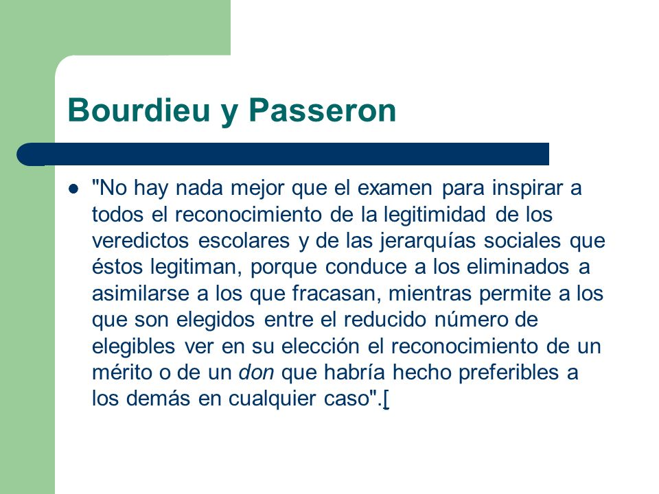 Bourdieu y Passeron