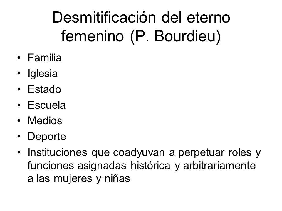 Desmitificación del eterno femenino (P.