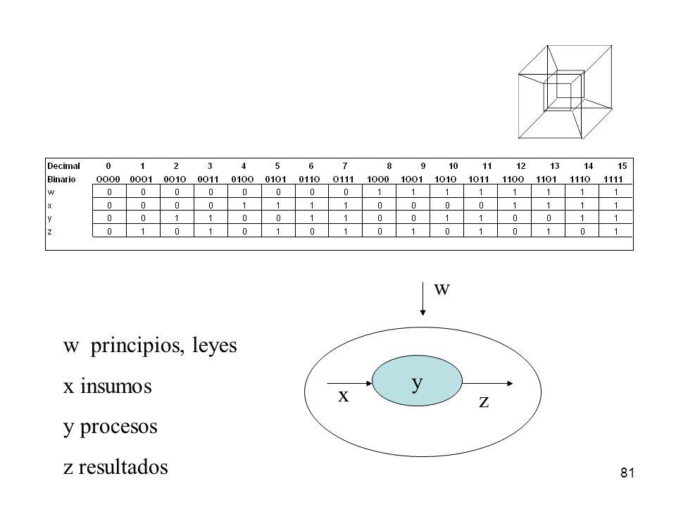 81 w principios, leyes x insumos y procesos z resultados y x z w