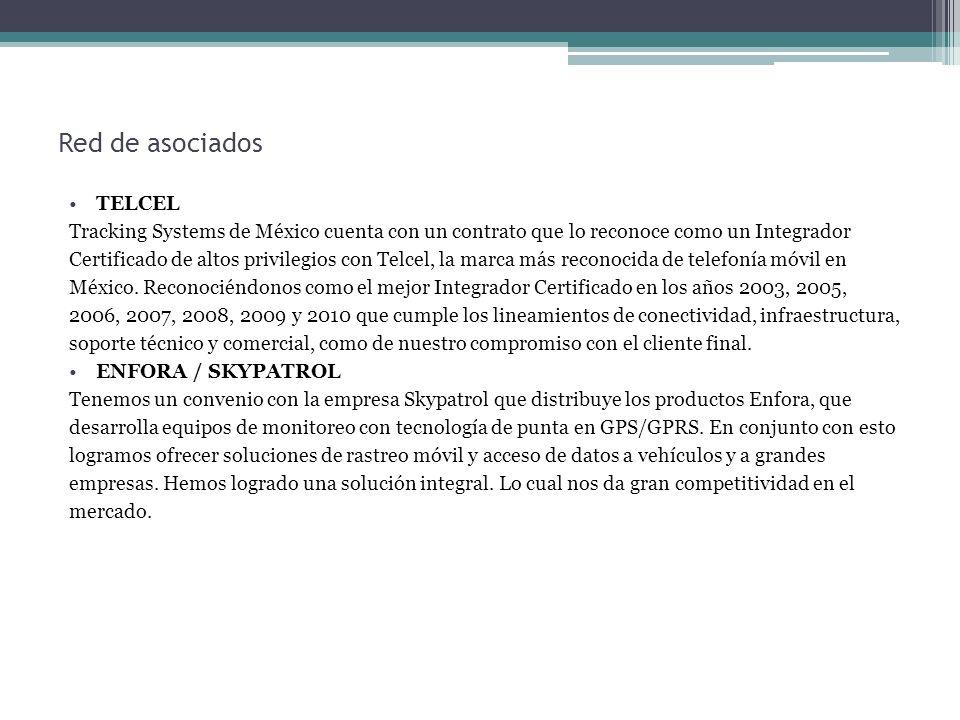 Red de asociados TELCEL Tracking Systems de México cuenta con un contrato que lo reconoce como un Integrador Certificado de altos privilegios con Telc