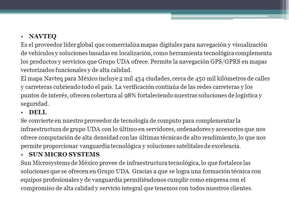 NAVTEQ Es el proveedor líder global que comercializa mapas digitales para navegación y visualización de vehículos y soluciones basadas en localización