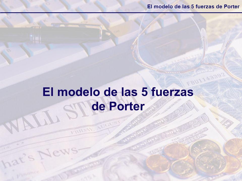 El modelo de las 5 fuerzas de Porter Esta competencia acelerada nos está diciendo que ya no es posible esperar por la acción del competidor para nosotros decidir como vamos a reaccionar.