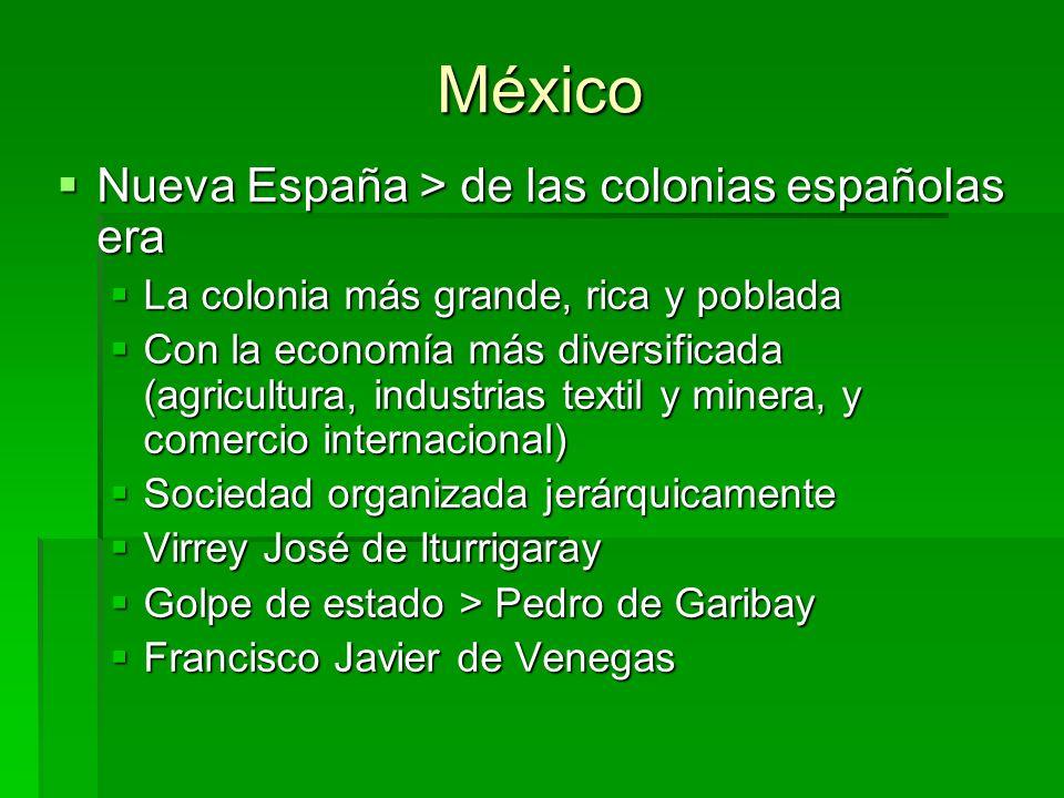 México Nueva España > de las colonias españolas era Nueva España > de las colonias españolas era La colonia más grande, rica y poblada La colonia más
