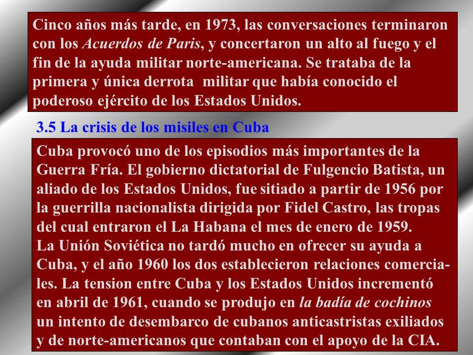 3.4 La Guerra de Vietnam(1957-1975) Cuando terminó la guerra de independencia de Indochi- na y después de la Conferencia de Ginebra de 1954, que ratif