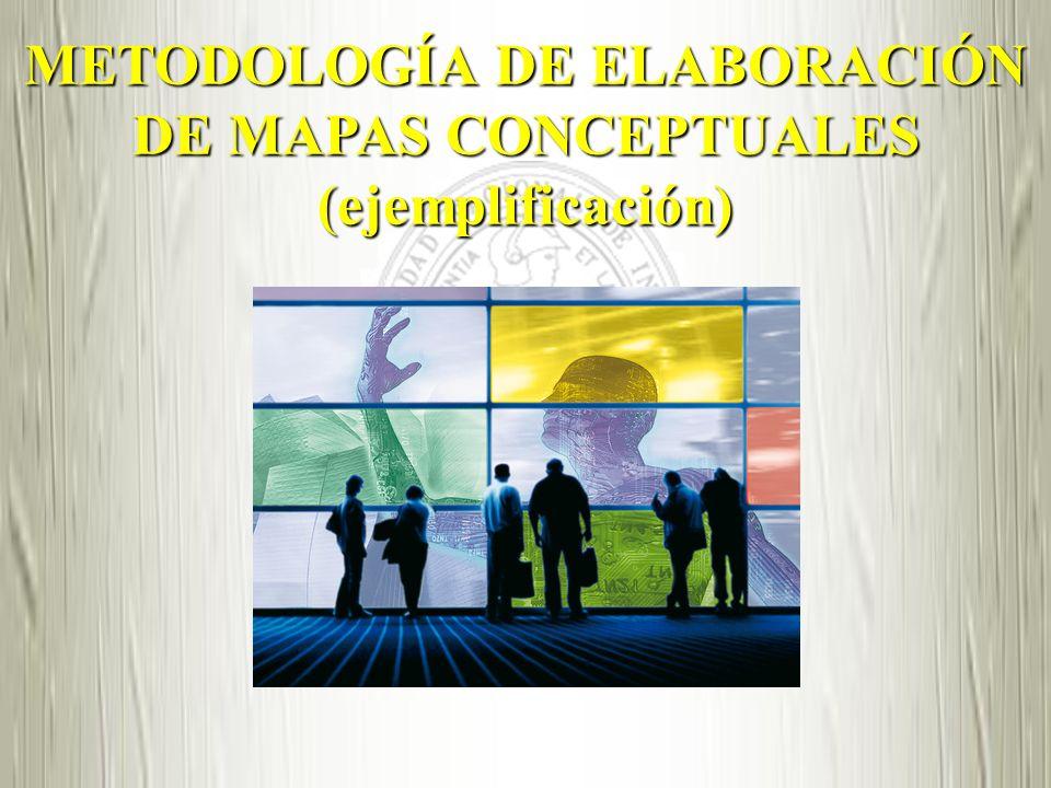 METODOLOGÍA DE ELABORACIÓN DE MAPAS CONCEPTUALES (ejemplificación)